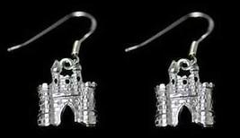 COOL Fairy Tale medieval Sterling Silver Castle earrings - $29.82