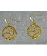 COOL Gold Plated Over silver Celtic Tree of Life  Earrings - $37.49