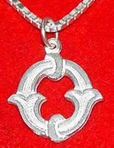COOL Gothic Letter O Silver Pendant Charm Initial - $20.25