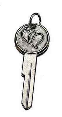 COOL Couple joined key to my heart charm silver Love romance