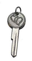COOL Couple joined key to my heart charm silver Love romance - $23.20