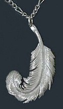 COOL Sterling Silver 925 Swan Feather Celtic Good Luck Charm - $59.02 CAD