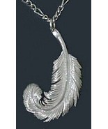 COOL Sterling Silver 925 Swan Feather Celtic Good Luck Charm - $45.17