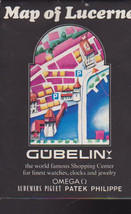 Map of Lucerne Switzerland Gubelin Shopping Center 1970s - $15.01