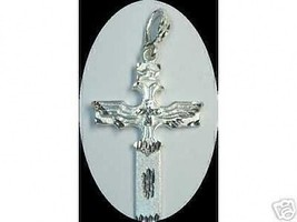 COOL Gothic Silver Pendant Death Vampire Cross ... - $37.48