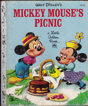 Mickey Mouse's Picnic Little Golden Book Jane Werner (recent print) - $9.04