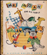 Mr Noah and His Family Little Golden Book 3rd print Jane Werner - $12.01
