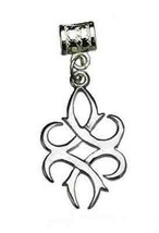 COOL CELTIC KNOT WICCA Sterling Silver Charm bead jewelry - $43.25