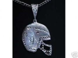 COOL Huge Football Helmet pendant Sterling silver 925 charm - $43.25