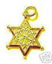COOL Gold Plated Celtic Snowflake Pendant Charm Christmas - $24.09