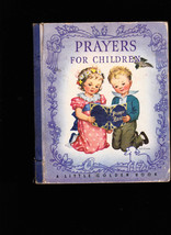 Prayers for Children Little Golden Book 3rd print 1942 - $27.84