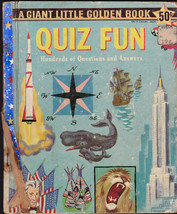 Quiz Fun Giant Little Golden Book Tibor Gergely 1st Print 100s of Questions - $13.99