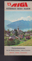 Rigi Vitznau Bahn Lake of Lucerne Switzerland Brochure 1960s - $16.00