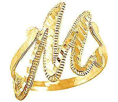 COOL New Gold plated letter Initial M Elegant ring jewelry