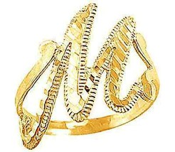 COOL New Gold plated letter Initial M Elegant ring jewelry - $27.87