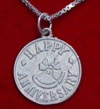 COOL Sterling Silver ANNIVERSARY Pendant Charm Jewelry - $22.20