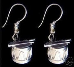 COOL New Sterling Silver Drum & Sticks Earrings set Jewelry - $37.49