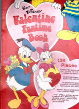 Walt Disney Valentine Funtime Book 1970s Mickey Mouse Donald Duck - $20.07