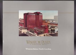 Winston Plaza a Stouffer Hotel Booklet Winston-Salem North Carolina - $12.03