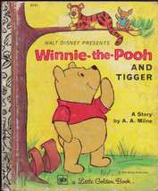 Winnie the Pooh and Tigger Little Golden Book 13th print Walt Disney AA ... - $9.04