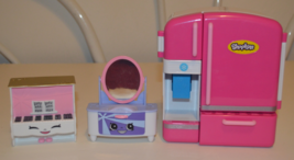 Shopkins Refrigerator, Piano, and Dressing Table - $24.95