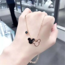 Swarovski Mickey&Minnie Pendant Necklace, Rose Gold Plating, jewelry gift  - £30.81 GBP