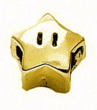 COOL Super Mario Star power 24kt gold plated real Sterling silver 925 jewelry be - $33.35