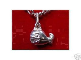 COOL Sterling Silver CARTOON Whale Pendant Charm Jewelry - $18.35