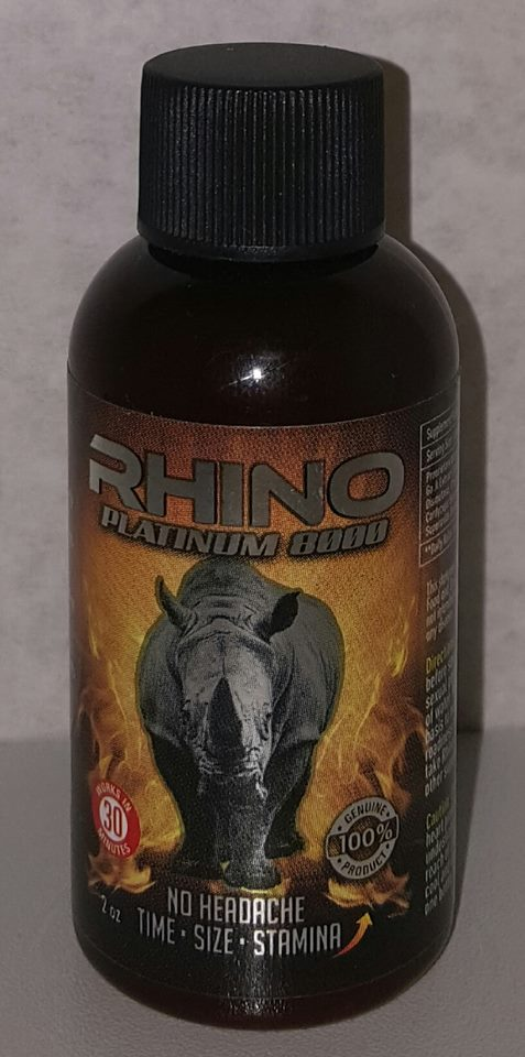 rhino platinum 8000 male enhancement liquid 3 bottle