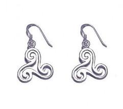 COOL Sterling Silver Celtic Triskele Earrings Jewelry New - $650,43 MXN
