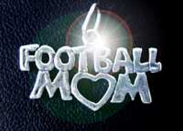 COOL Football proud Mom mothers day Player gift pendant Sterling silver charm Je - $17.39