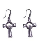 COOL Irish 18K White Gold Sterling Silver Claddagh Earrings - $39.24
