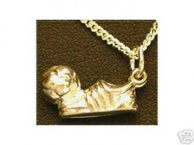 COOL Gold Plated Silver Soccer shoe ball Sport Pendant Charm