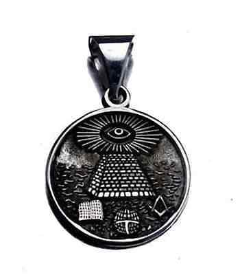 COOL Free Mason Masonic Sterling Silver ALL SEEING EYE Charm