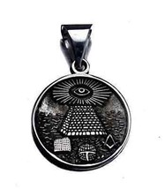 COOL Free Mason Masonic Sterling Silver ALL SEEING EYE Charm - $34.15