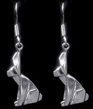 COOL Bunny Rabbit Japanese ORIGAMI Earrings Sterling Silver - $37.49