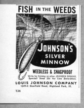 1962 Print Ad Johnson's Silver Minnow Weedless Snagproof Fishing Lures - $6.68