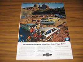1972 Vintage Ad Chevrolet Station Wagons & Chevy Vans Oak Creek Canyon,AZ - $5.38