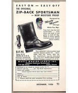 1956 Print Ad Zip-Back Sportsman Boots Marty Marion Chicago White Sox - $3.95