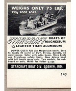 1950 Print Ad Starcraft Boats of Magnesium Goshen,IN - $3.29