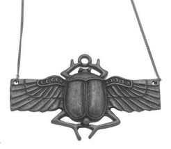 "COOL Sacred Egypt Scarab Beetle Sterling Silver pendant charm with 18"" n... - $94.03"
