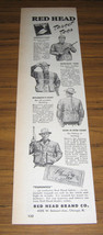 1950 Vintage Ad Red Head Brand Target Shooting Clothing Chicago,IL - $3.62