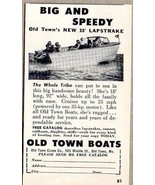 1958 Print Ad Old Town New 18' Lapstrake Boats Old Town,Maine - $6.57