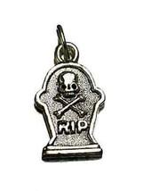 COOL New Halloween Skull crossbone Skeleton Real Sterling Silver RIP cha... - $16.31