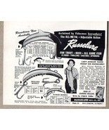 1950 Print Ad Russelure Casting & Trolling Fishing Lure 9 lb 10 oz Rainb... - $6.57