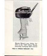 1953 Magazine Photo Martin 20 HP 200 Silver Streak Outboard Motors - $7.43