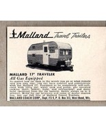 1958 Print Ad Mallard Travel Trailers 17' Traveler Model West Bend,WI - $4.24