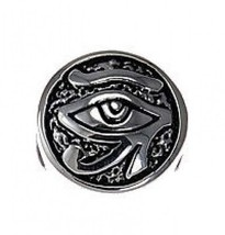 COOL Silver Egyptian Eye of Horus BEAD fits jewelry bracelet - $24.09