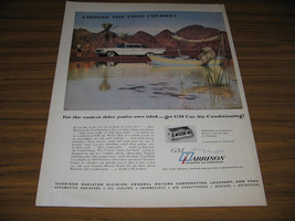 1960 Vintage Ad GM Harrison Air Conditioning Polar Bear in Boat - $4.24