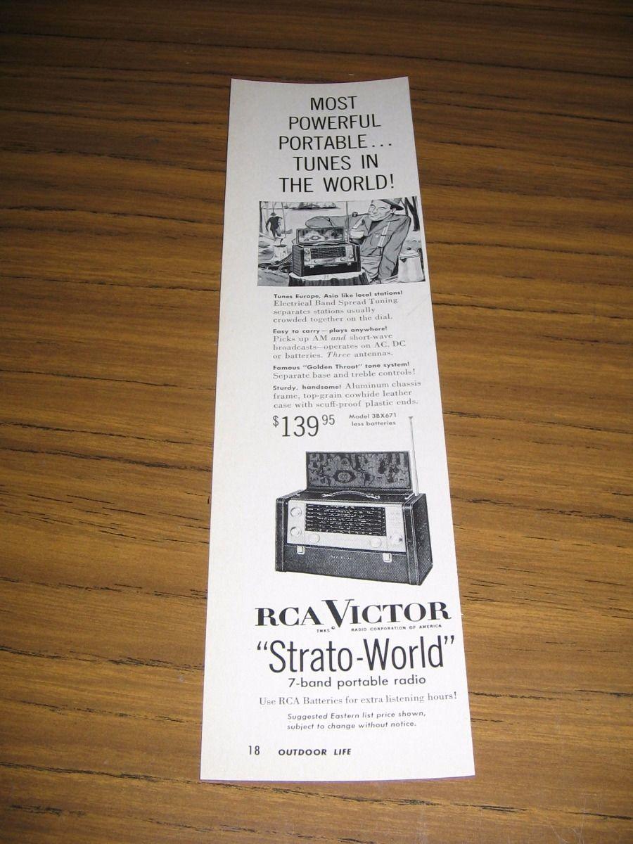 1954 Print Ad RCA Victor Strato-World 7 Band and 50 similar